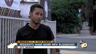 Residents want more new businesses - Video