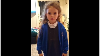 6-year-old girl raps along to 'Man's Not Hot' - Video
