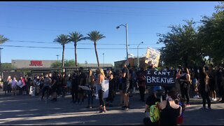 Another night of Black Lives Matter protests in Las Vegas