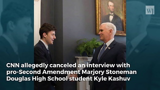 CNN's Baldwin Cancels Kyle Kashuv After Seeing What He Tweeted About Her - Video