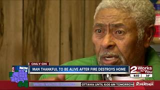 85-year-old man thankful to be alive after home destroyed by fire - Video