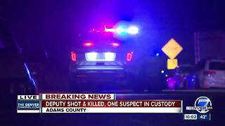 Adams County deputy shot, killed in Thornton; police looking for 2 suspects possibly still at large - Video