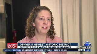 Denver's newest historic district protects 6 homes - Video