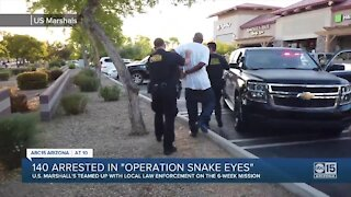 140 Phoenix area arrests made by U.S. Marshals in Operation Snake Eyes