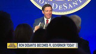 Ron DeSantis becomes Florida governor today