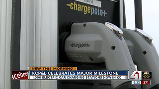KCP&L reaches goal to install 1,000 electric vehicle charging stations - Video