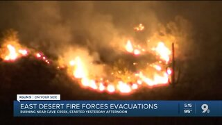 Brush fire north of Phoenix forces evacuation of 250 people