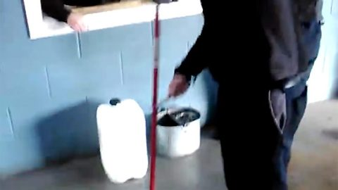 Hilarious diy power-mop might just send the cleaning world into a spin