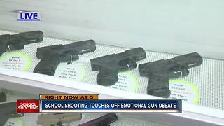 School shooting touches off emotional gun debate