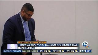 Riviera Beach residents seek answers after sudden firing of city manger - Video
