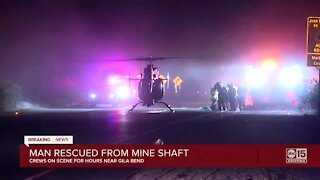 Man rescued from a mine shaft near Gila Bend
