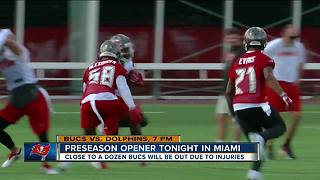 Buccaneers return to the field for first preseason game Thursday night - Video