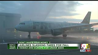 Airlines slashing fares for fall - Video