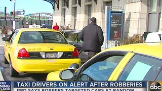 Taxi cab drivers on alert after robberies - Video