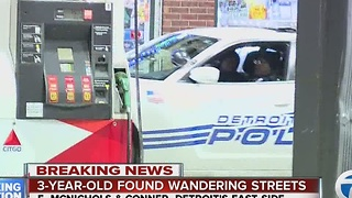 3-year-old found wandering on Detroit's east side - Video