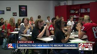 Districts searching for dozens of teachers - Video