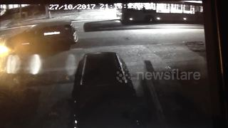 Shocking footage of woman on mobility scooter smashed with car - Video