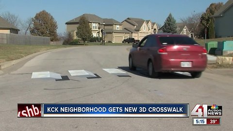 3D crosswalk illusion gets drivers to slow down