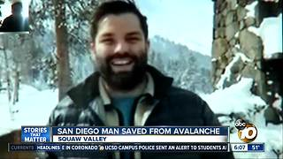 San Diego couple pulled out of Squaw Valley avalanche - Video