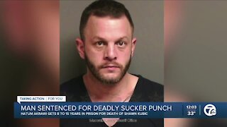 Man who pleaded guilty to deadly sucker punch gets 8-15 years in prison