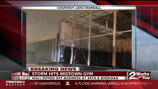 Possible tornado hits midtown Tulsa gym - Video