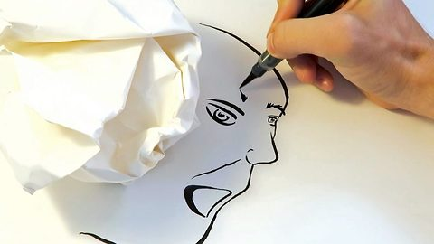 Shady artist used shadows to create unique and interesting portraits