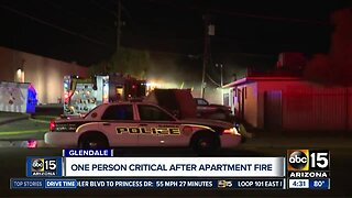One person critical after Glendale apartment fire