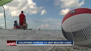 Volunteers working to keep Indian Rocks Beach clean - Video