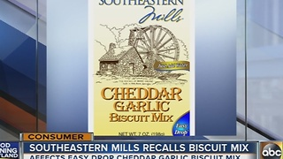 Southeastern Mills recalls biscuit mix over salmonella - Video