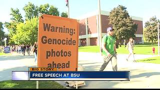 Graphic pro-life display at Boise State puts free speeh to the test - Video