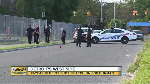 Police search for suspect in shooting of 13-year-old in Detroit