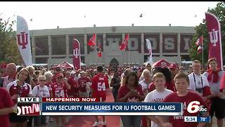 New security measures for IU football games - Video