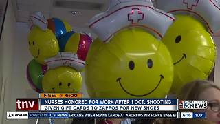 Sunrise Hospital nurses honored for work after 1 Oct. Shooting - Video