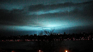 Eerie aerial phenomena sighting over West New York
