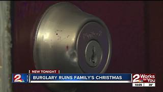 Burglar breaks into South Tulsa apartment, threatens to ruin family's Christmas - Video