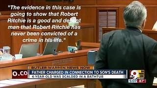 Third trial for father charged in son's scalding death