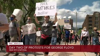 Day two of protests for George Floyd