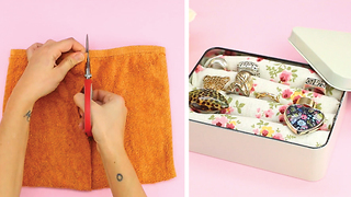 Super easy jewelry box using towels - Video