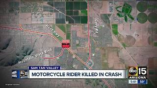 Motorcycle rider killed in Queen Creek - Video