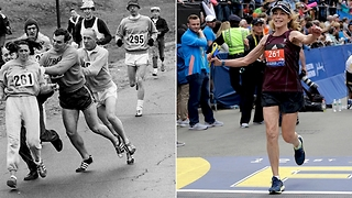 "Katherine Switzer: First Woman To Run ""Boston Marathon"" Runs Event Again 50 Years Later  - Video"