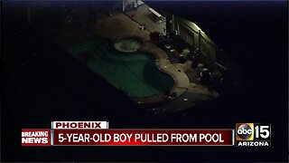 Boy pulled from Phoenix pool, rushed to the hospital