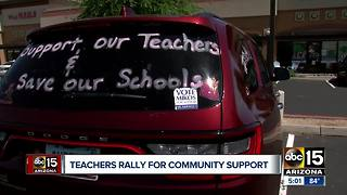 Arizona teachers rallying for community support - Video
