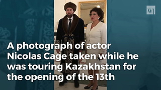 Photo From Nicholas Cage's Kazakhstan Visit Goes Viral - Video