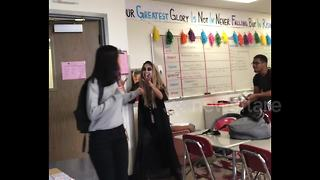 Arizona high-school teacher pranks students on Halloween - Video