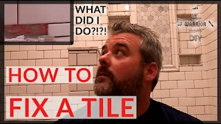 How to replace a tile-DIY