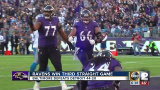 Ravens crank up the offense in 44-20 win over Lions - Video