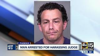 Man accused of harassing Maricopa County judge - Video