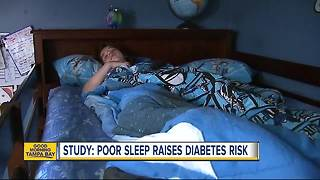 Study: More sleep reduces type 2 diabetes risk in children - Video