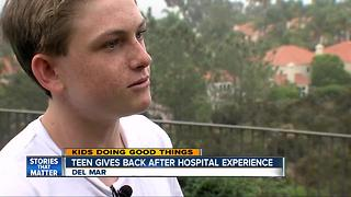Kids Doing Good Things: Teen gives back after hospital experience - Video
