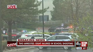 2 arrested, 8 hurt in Colorado school shooting
